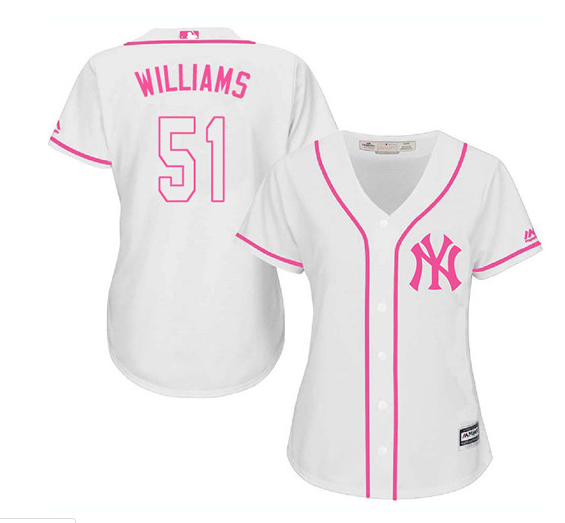 premium selection b339c f86fa Women's Majestic New York Yankees #51 Bernie Williams ...
