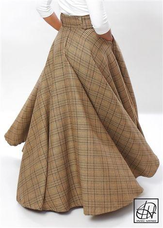 Floor Length High Waist Swing Skirt Erryth Likes
