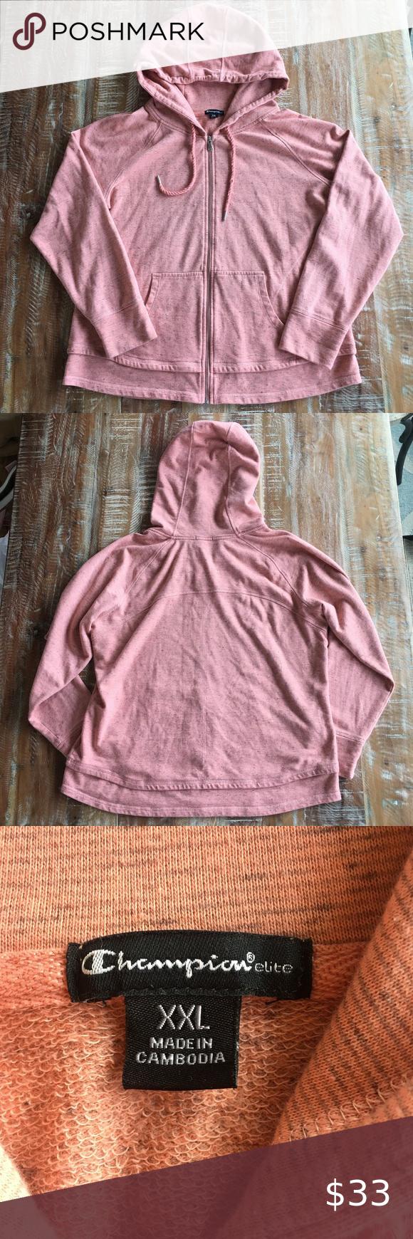 Champion Elite French Terry Full Zip Hoodie Jacket In 2021 Full Zip Hoodie Pink Champion Hoodie Hoodie Jacket [ 1740 x 580 Pixel ]