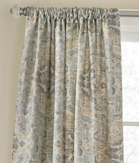 Antiqued Watercolor Curtain Light Blue Country Curtains Home