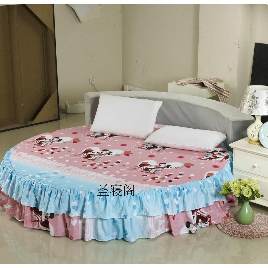Court Round Bed Bedding Sheets