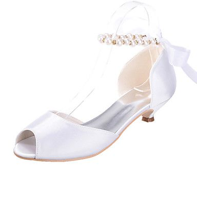 Shoes For Women Silk Low Heel Peep Toe Sandals Wedding Party Evening More Colors