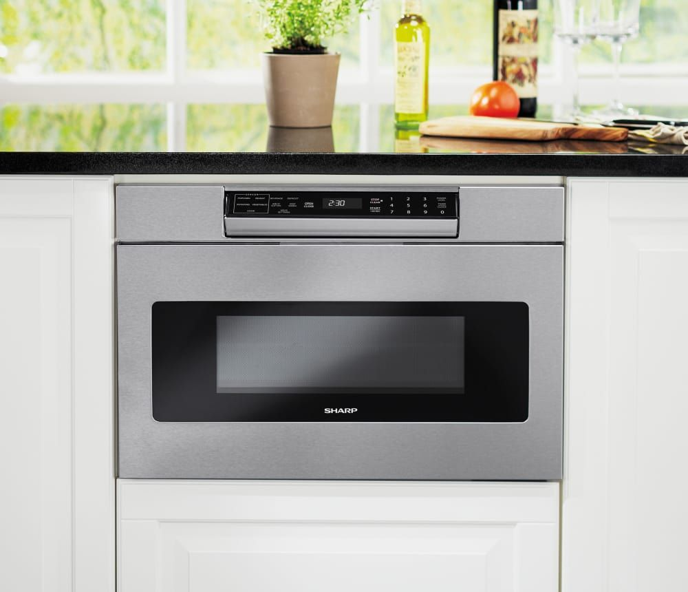 Sharp Smd2470 24 Inch Microwave Drawer With Easy Touch Hidden Control Panel Sensor Cook Design Flexibility Timer Child Lock 1 000 Cooking Watts