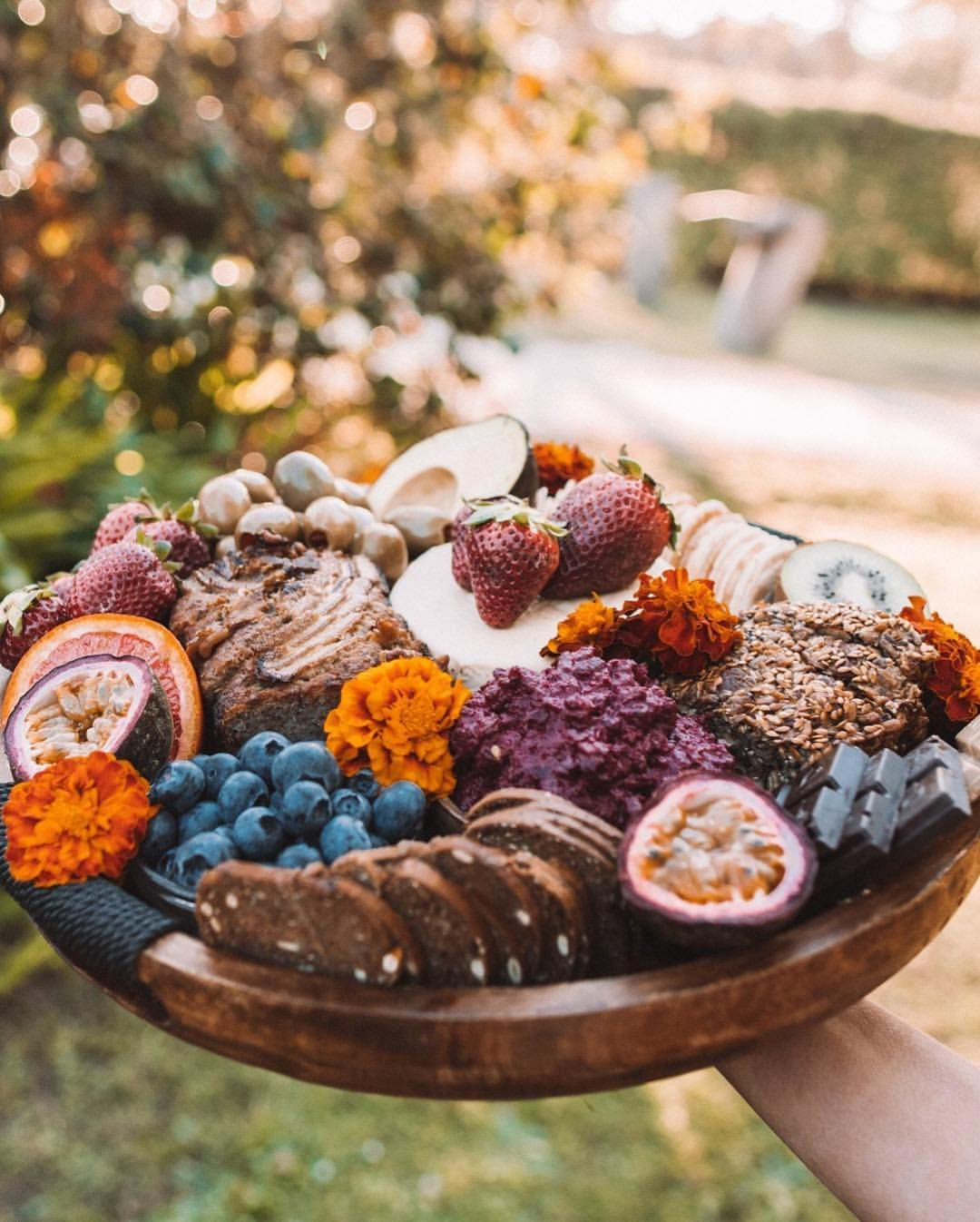 Luxe healthy springraces catering the mindfood platter