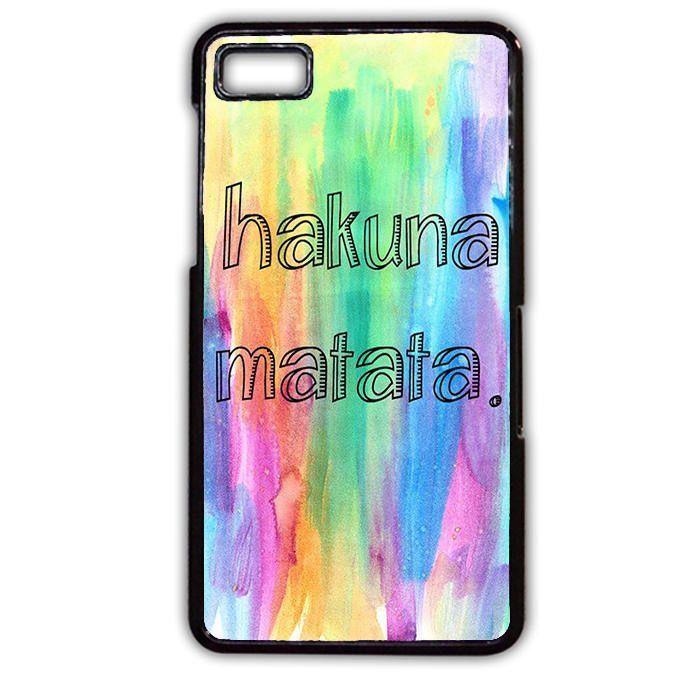 Hakuna Matata Crayon TATUM-4976 Blackberry Phonecase Cover For Blackberry Q10, Blackberry Z10