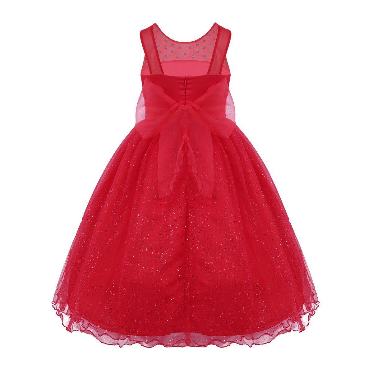 f1d57bda Girls red sparkly flower girl dresses | Girls Clothing | Flower girl ...