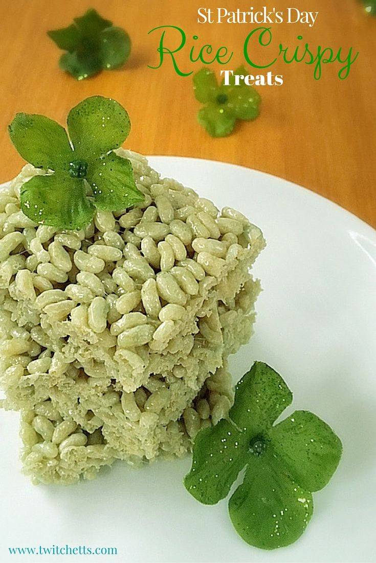 Green Rice Crispy Treats ~ Naturally Green St Patrick\'s Day Recipes ...