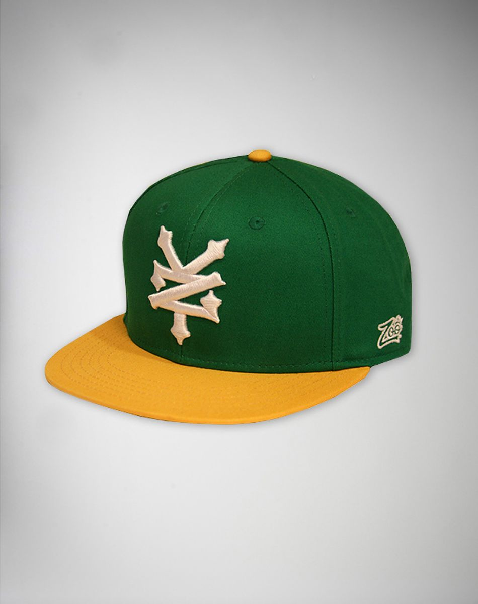 64a81833a26 Zoo York Green Script Snapback Hat