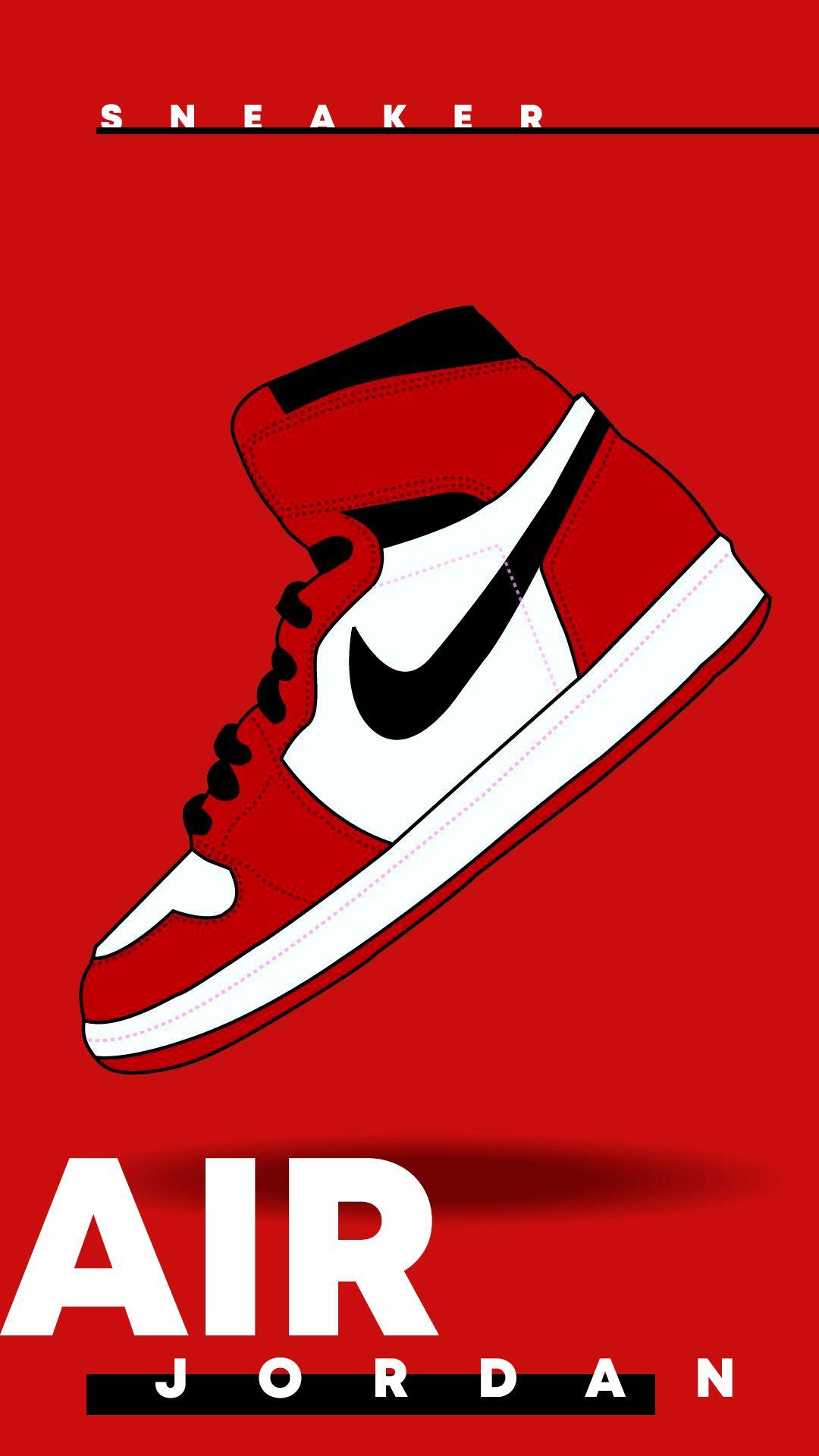 Air Jordan 1 X Off White Red Nike Wallpaper Sneakers Wallpaper Cool Nike Wallpapers