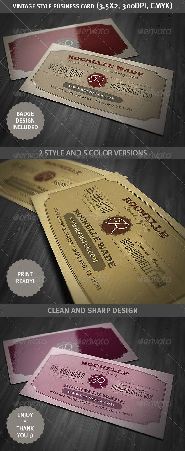 Vintage business card business cards business and unique business vintage business card fbccfo Images