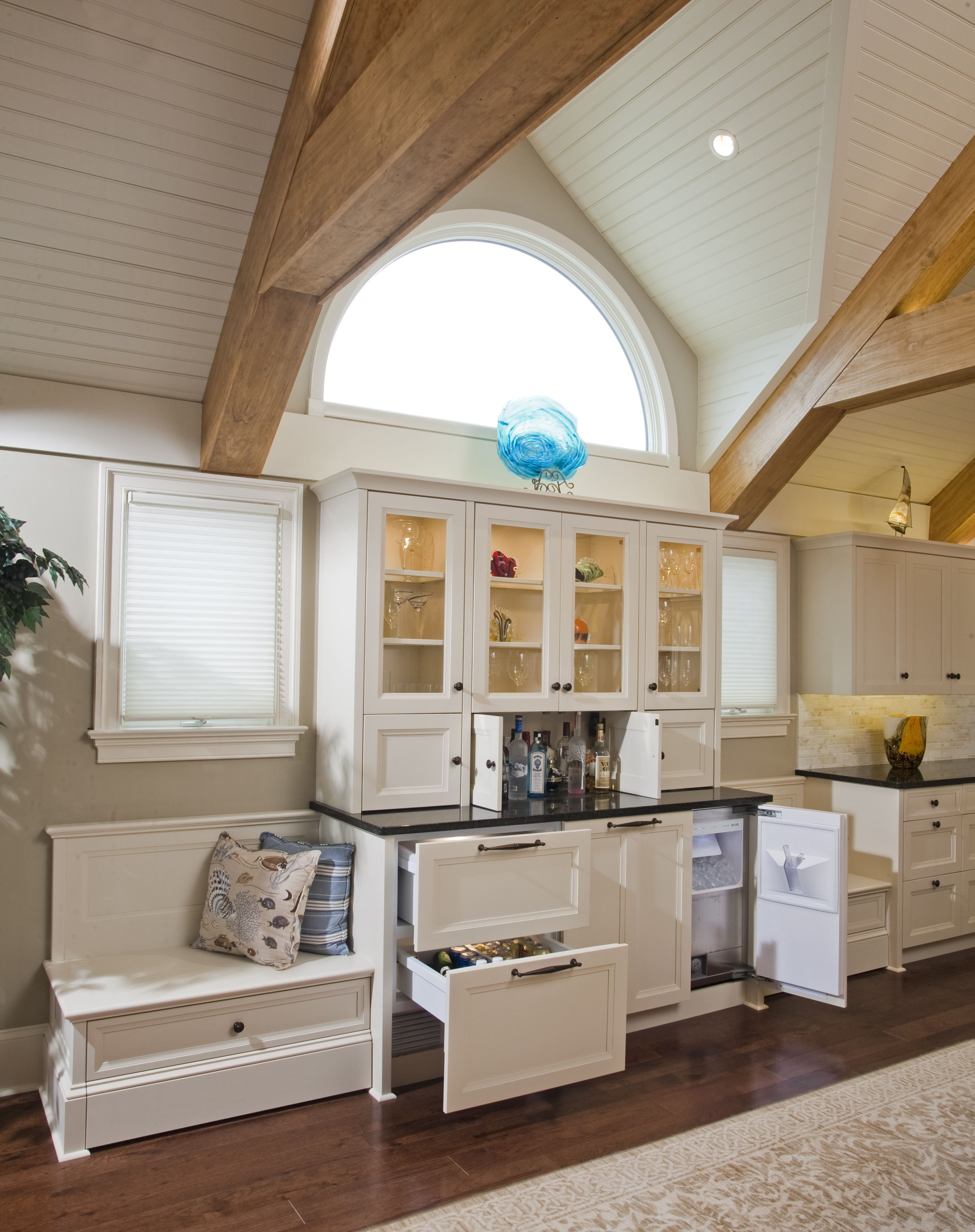 Surprise China Cabinet Is A Functional Bar Beverage Center Cabinet Cabinetry Kitchen Cabinets