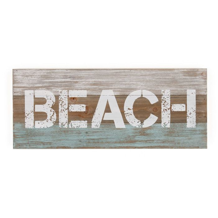 Marshall Home Garden Beach Sign Wall Décor & Reviews | Wayfair