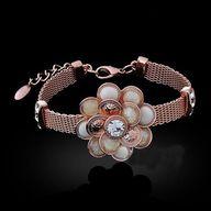 Flower Motif Bracelet, $30