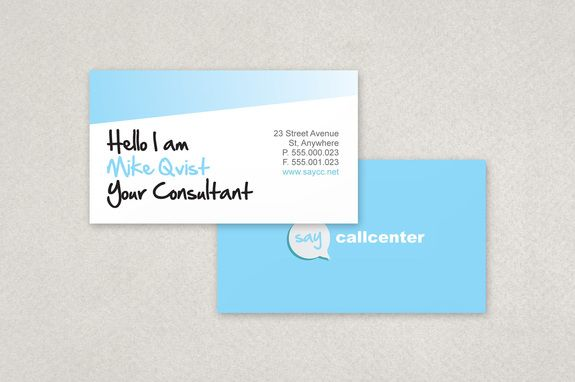 Call Center Business Card Template - Business Card for Call Center