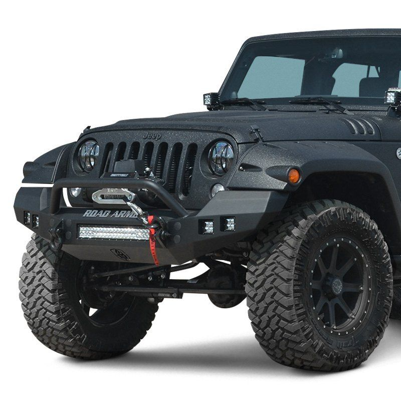 Road Armor Stealth Series Full Width Front Winch Hd Bumper With Pre Runner Guard Jeep Wrangler Jeep Winch Jeep Bumpers
