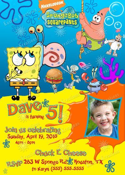 Spongebob birthday invitations birthday themes pinterest spongebob 2 birthday invitation spongebob birthday party 5th birthday birthday cakes filmwisefo