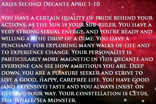 astrology decans aries