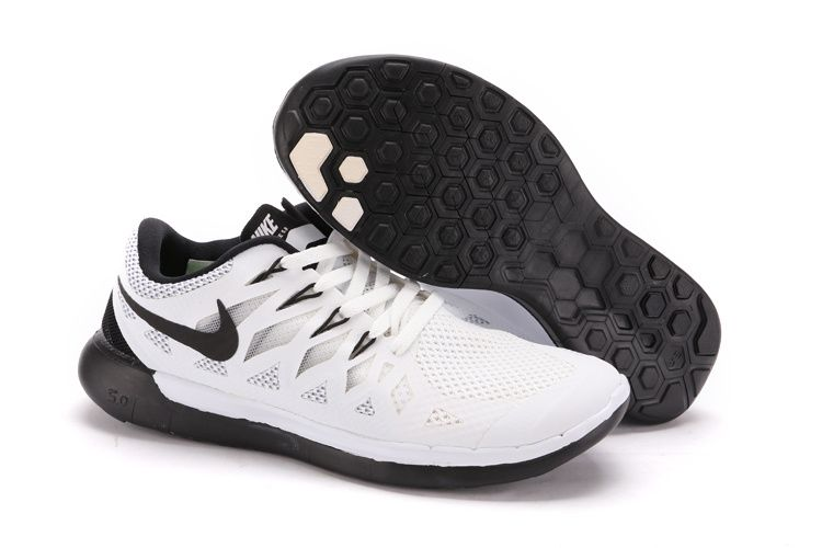 new release official images superior quality nike free run 5.0 homme 2014 noir blanc | Chaussures de course ...