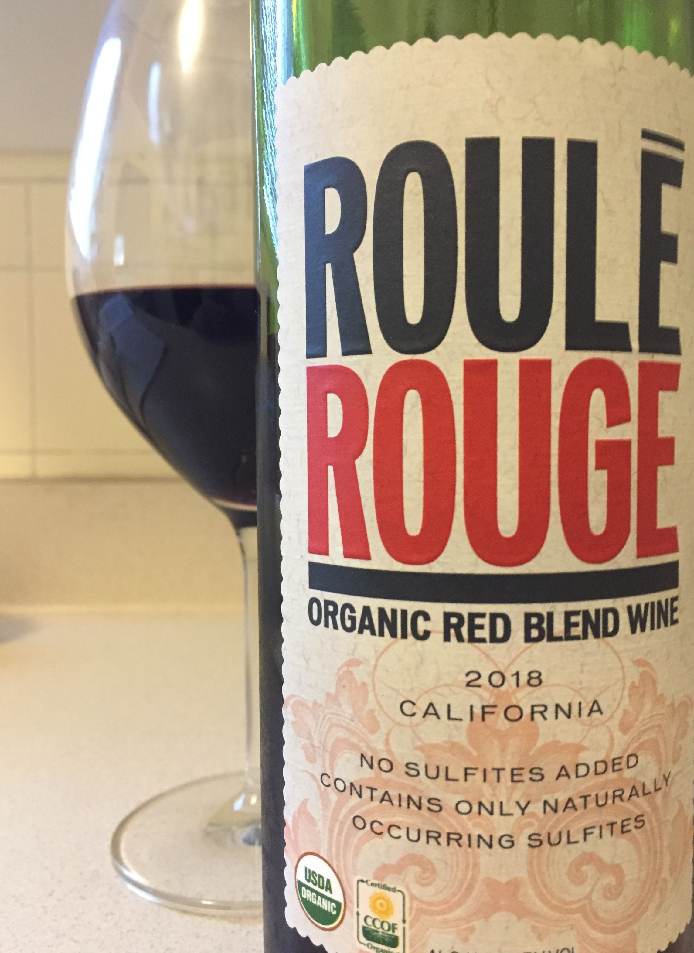Roule Rouge 2018 Organic Red Blend Wine California Red Blend Wine Tito S Vodka Bottle Vodka Bottle