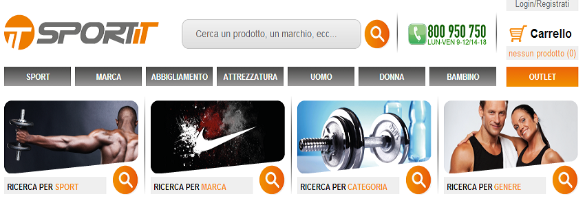 SportIT: negozio online per lo sport
