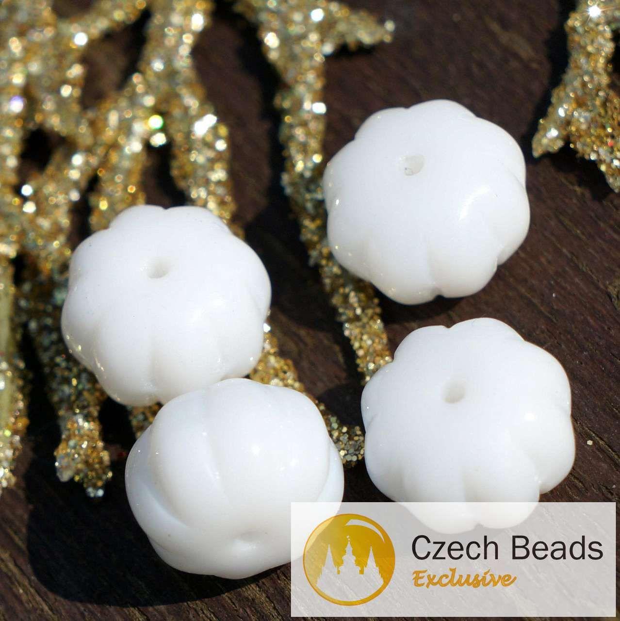 ✔ What's Hot Today: Opaque White Czech Glass Squashed Melon Beads Fruit Pumpkin 8mm x 11mm 16pcs https://czechbeadsexclusive.com/product/opaque-white-squashed-melon-beads-czech-glass-melon-beads-glass-fruit-beads-white-melon-glass-beads-pumpkin-czech-melon-beads-10mm-8pc/?utm_source=PN&utm_medium=czechbeads&utm_campaign=SNAP #CzechBeadsExclusive #czechbeads #glassbeads #bead #beaded #beading #beadedjewelry #handmade