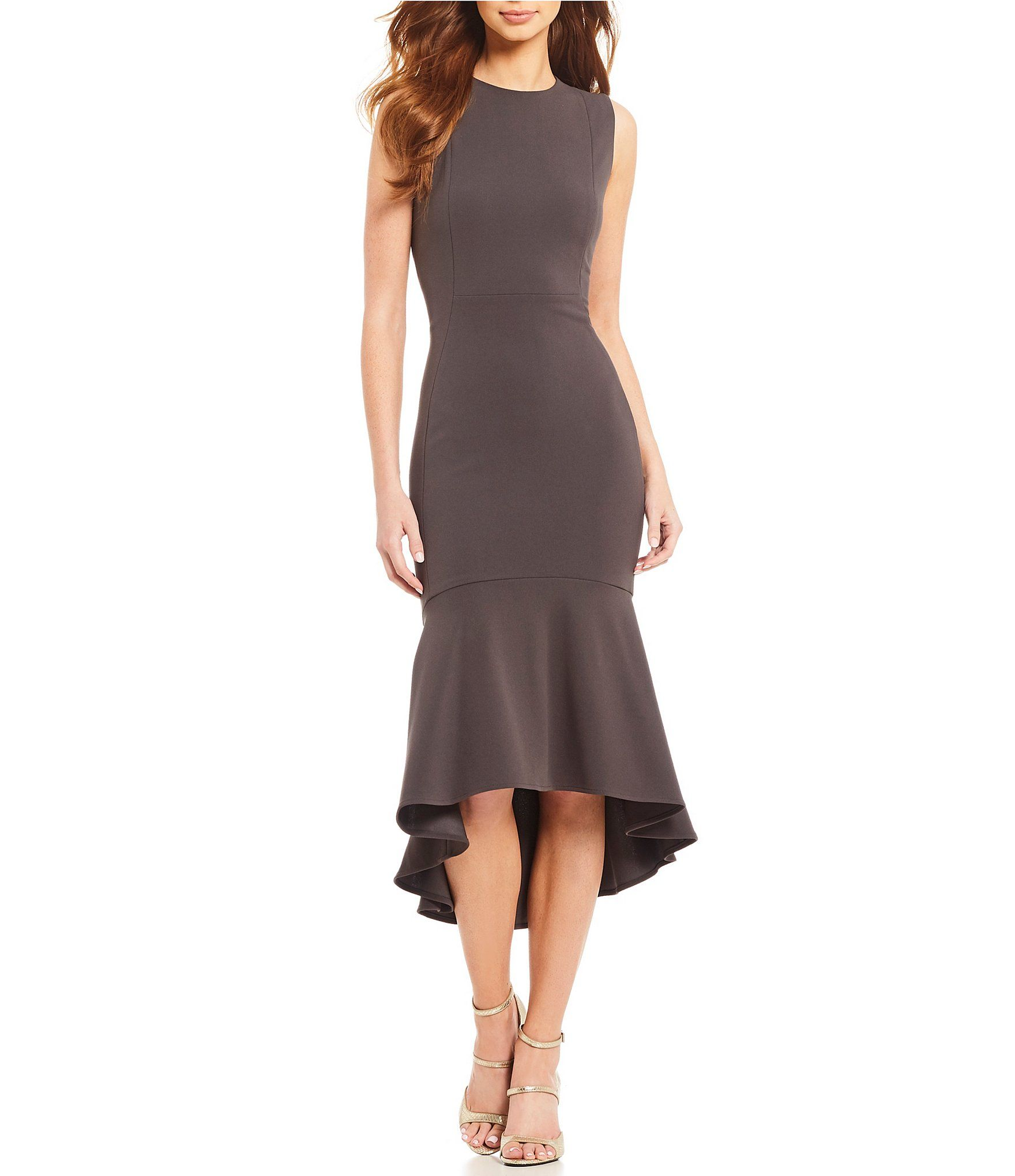 4ff89776fa05 Calvin Klein Flounce Hem Midi Dress #Dillards | chic fashion ...