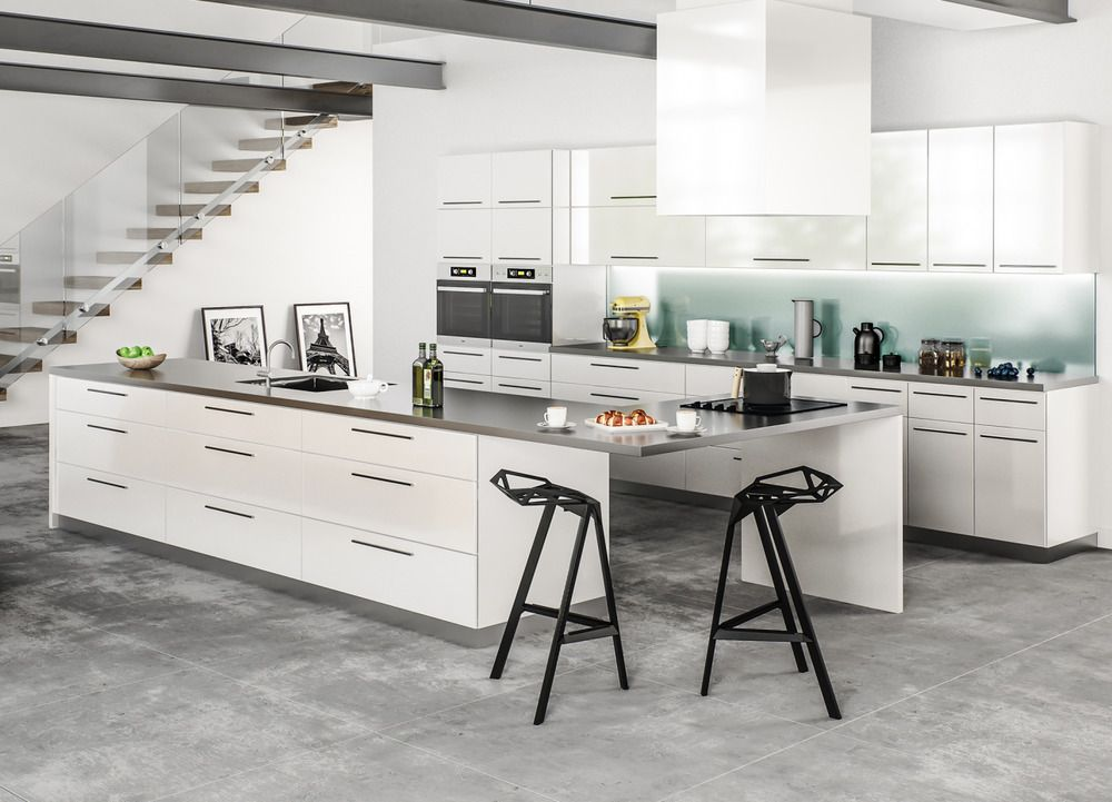 Rta 10x10 Contemporary Palermo Gloss White Kitchen Cabinets Glossy Slab Door Buy Kitchen Cabinets New Kitchen Cabinets Frameless Kitchen Cabinets