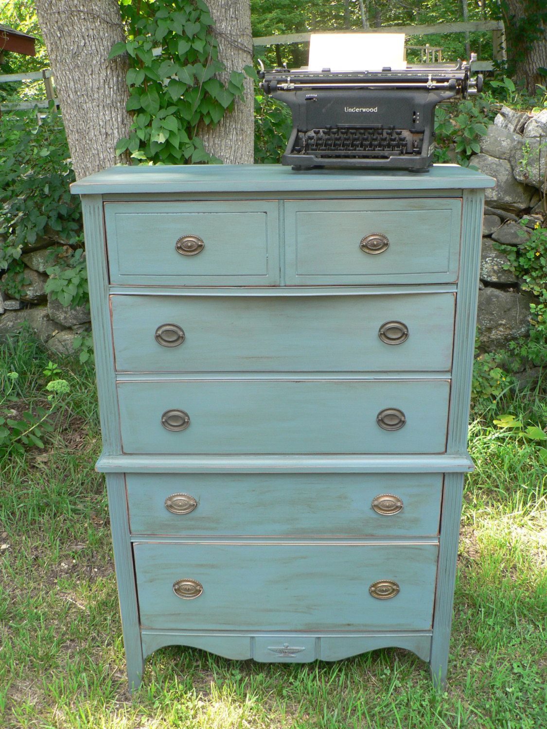 Vintage Antique Federal Style Dresser Tall By Cedarledesigns 345 00