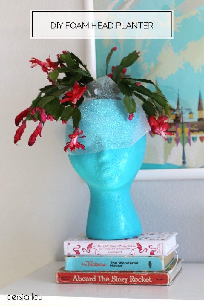 Diy Foam Head Planter Head Planters Styrofoam Head Crafts 400 x 300