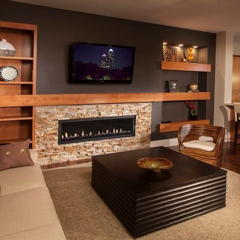 Pin By Peter M On Electric Fireplace Built In Electric Fireplace Fireplace Design Basement Fireplace