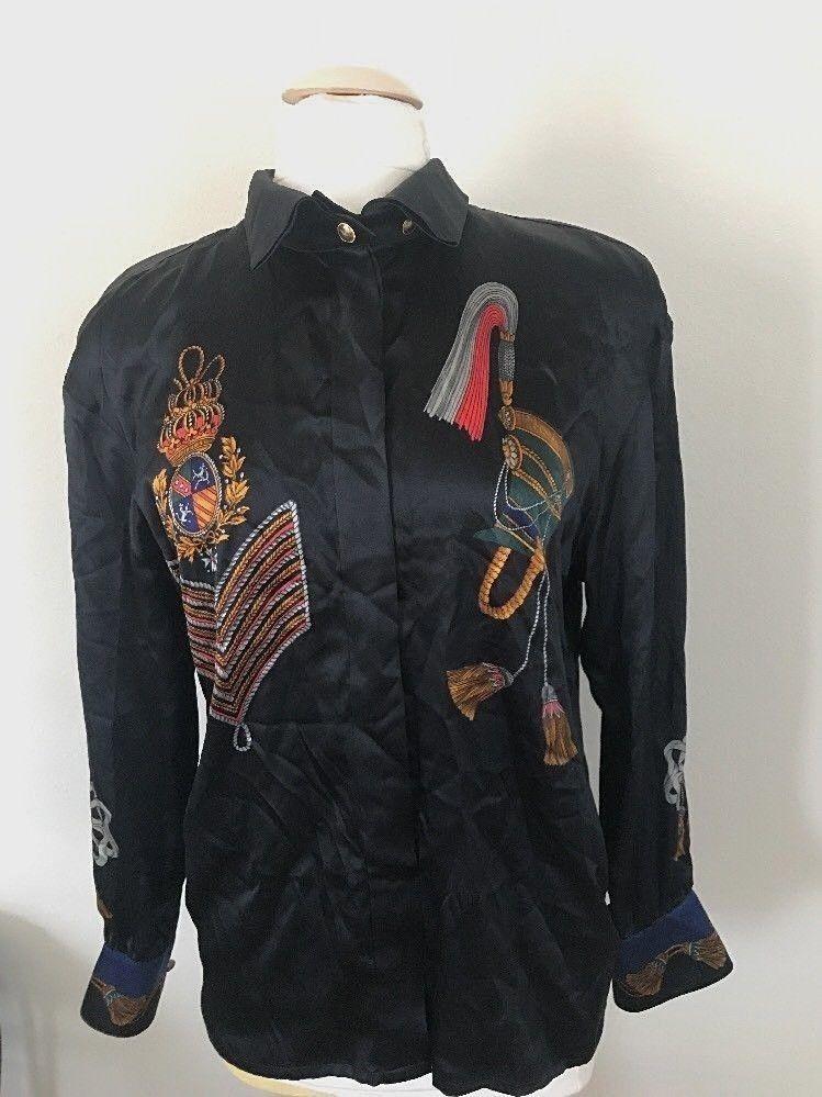 7b237f23579ac2 ESCADA by Margaretha Ley Silk Blouse Women's Size 36 Made in W. Germany # Escada #Blouse