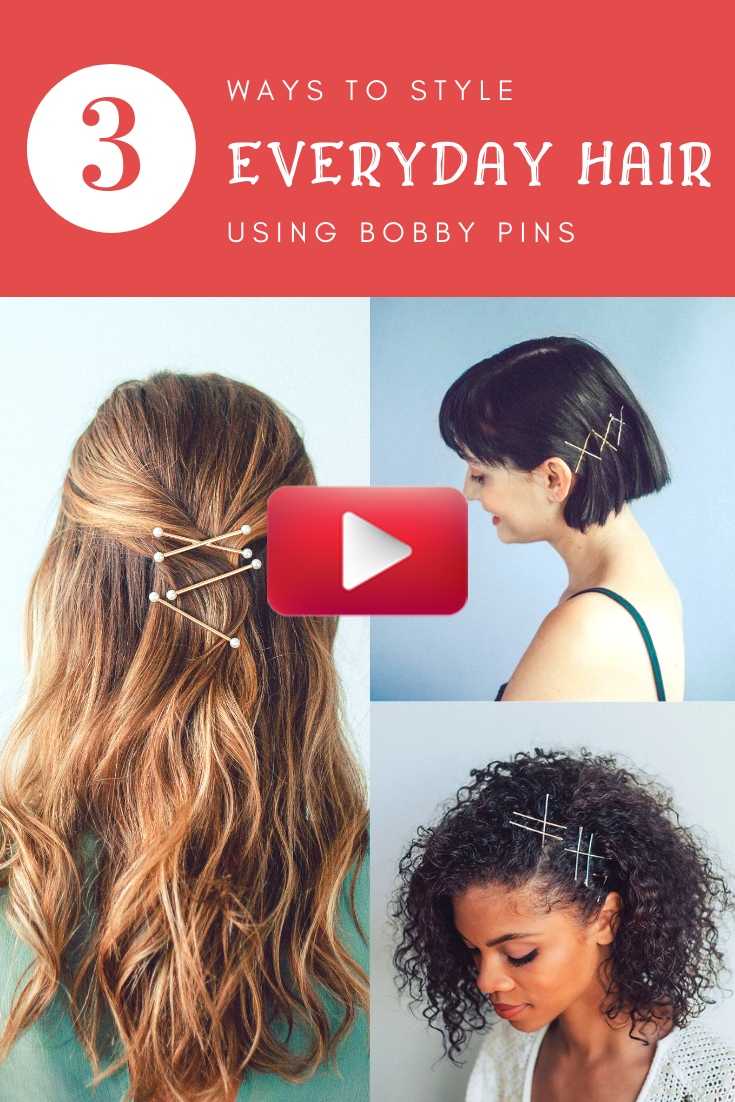 How To Style Everyday Hair With Bobby Pins With Kitsch Hair Accessories Kitsch In 2020 Hair Styles Headband Hairstyles Easy Hairstyles
