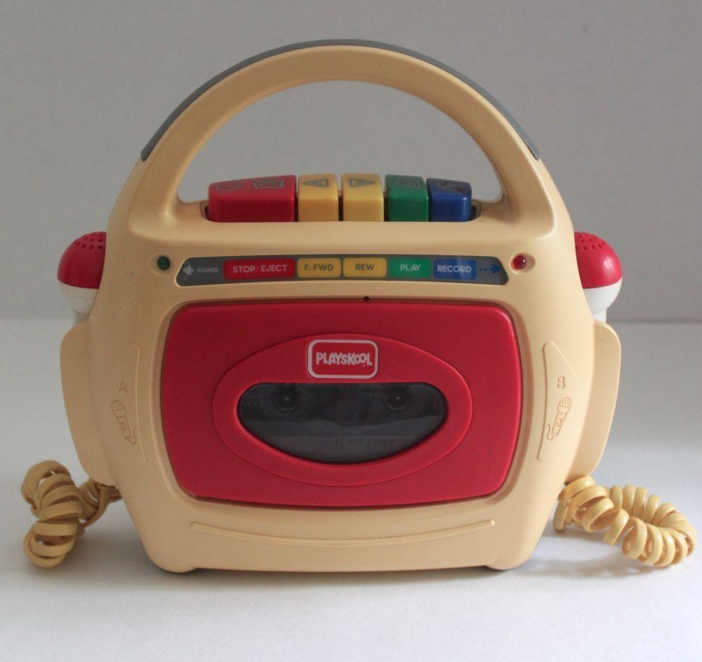 1993 Playskool Ps 455 Dual Microphone Cassette Tape Recorder Player See Video Vintage Words Childhood Memories Ebay