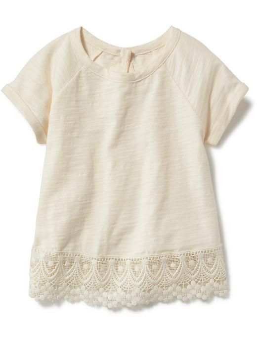 Eyelet-Trim Top for Baby