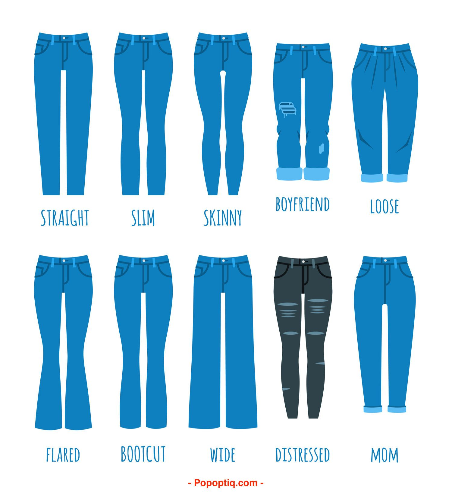 24 Types of Jeans for Women and Men (Epic List and