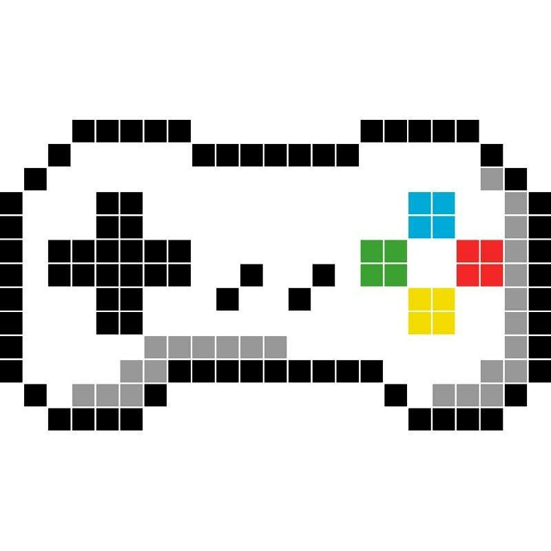Manette d co objets en pixel art 26 9 pixel art for Maison classique minecraft