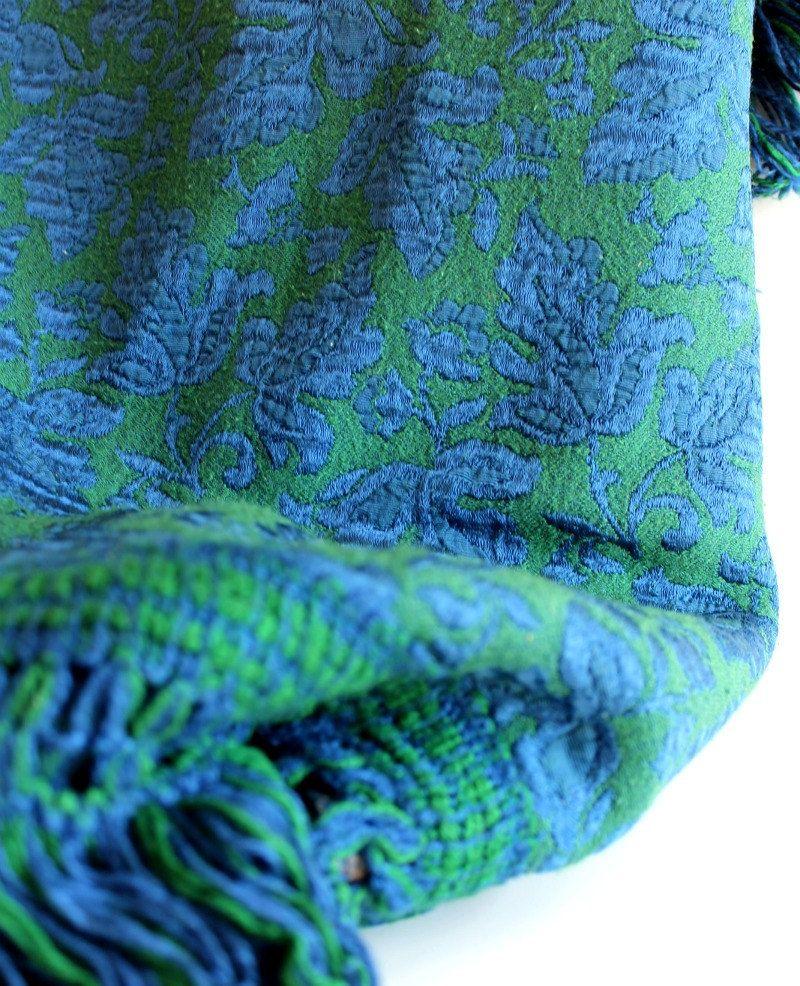 BiRThDaY SALE Vintage 1970 Sears Bellisimo Italian Tapestry Bedspread. Electric Blue. $151.20, via Etsy.