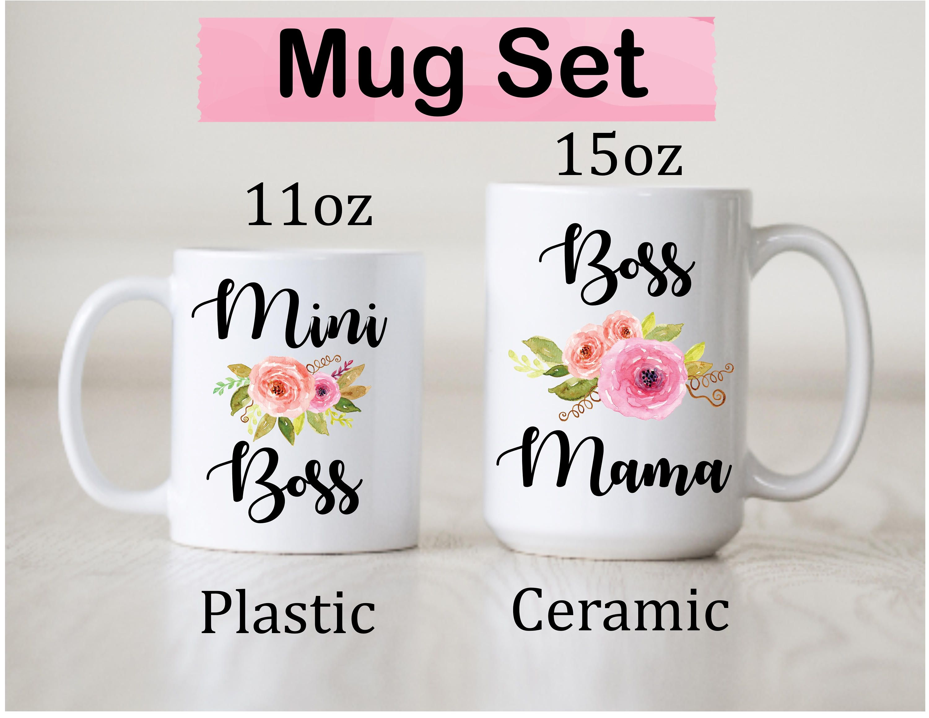 Mommy And Me Mom Daughter Gift Idea Mother Mug Set
