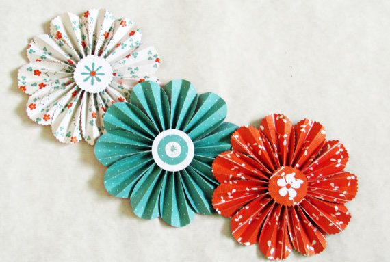 Accordion paper flowers choice image flower decoration ideas paper flowers garland orange turquoise wedding wall decor photo garland paper flowers orange turquoise wedding wall mightylinksfo Choice Image