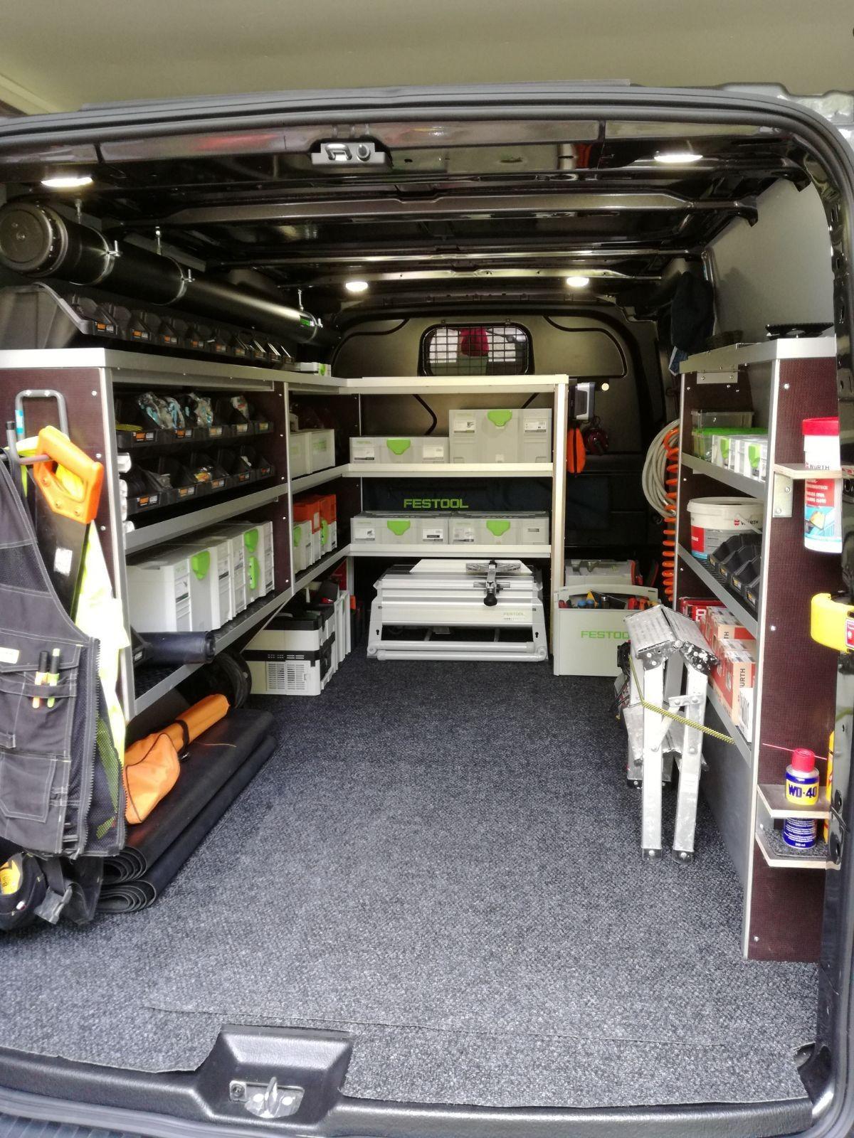 Plumbers Work Van Van Storage Van Organization Van Shelving
