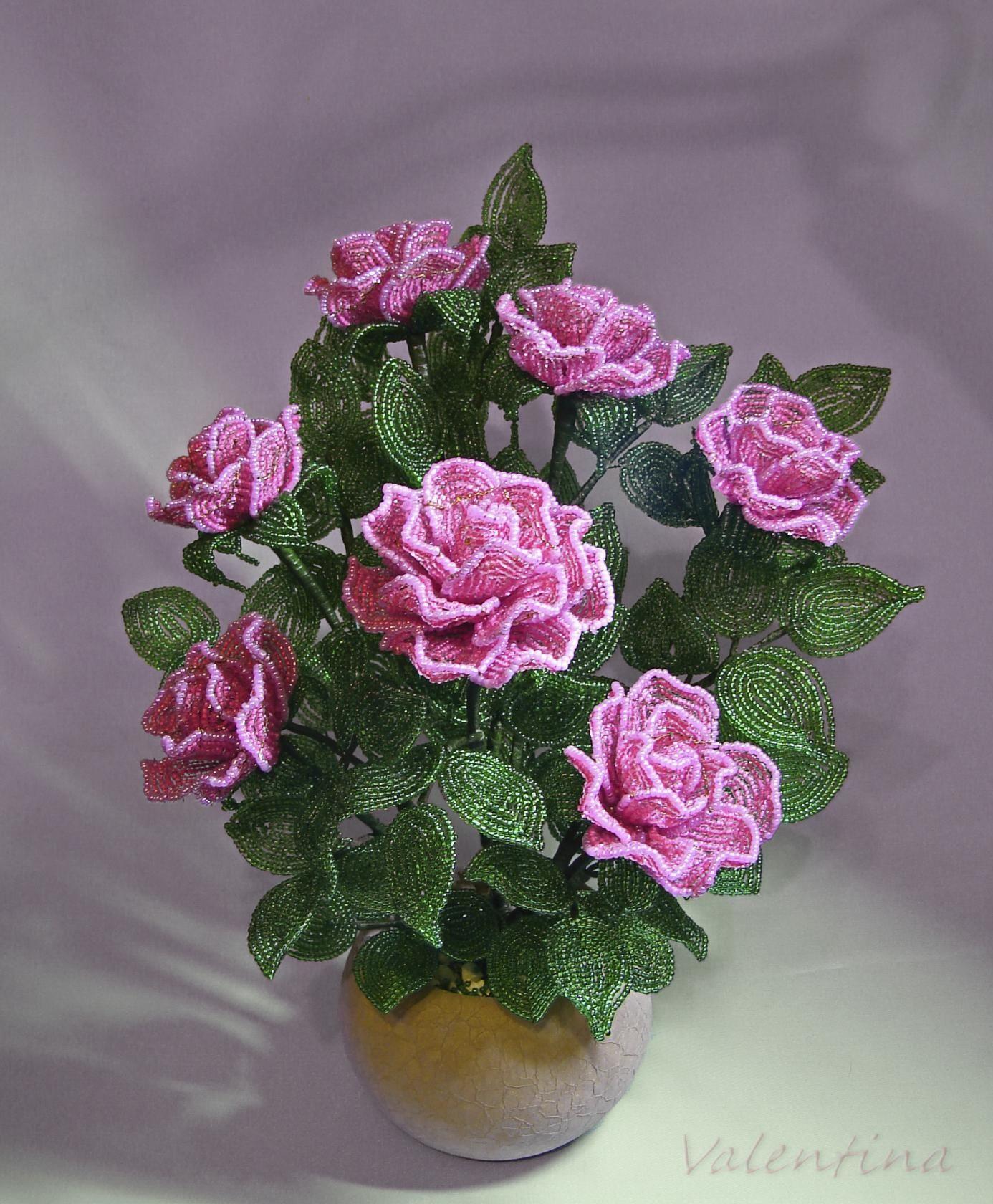 цветы из бисера купить