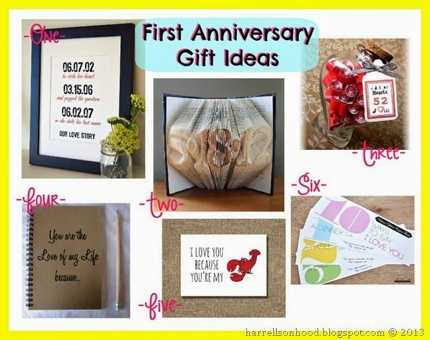 First Anniversary Gift Ideas And My Etsy Finds With Images