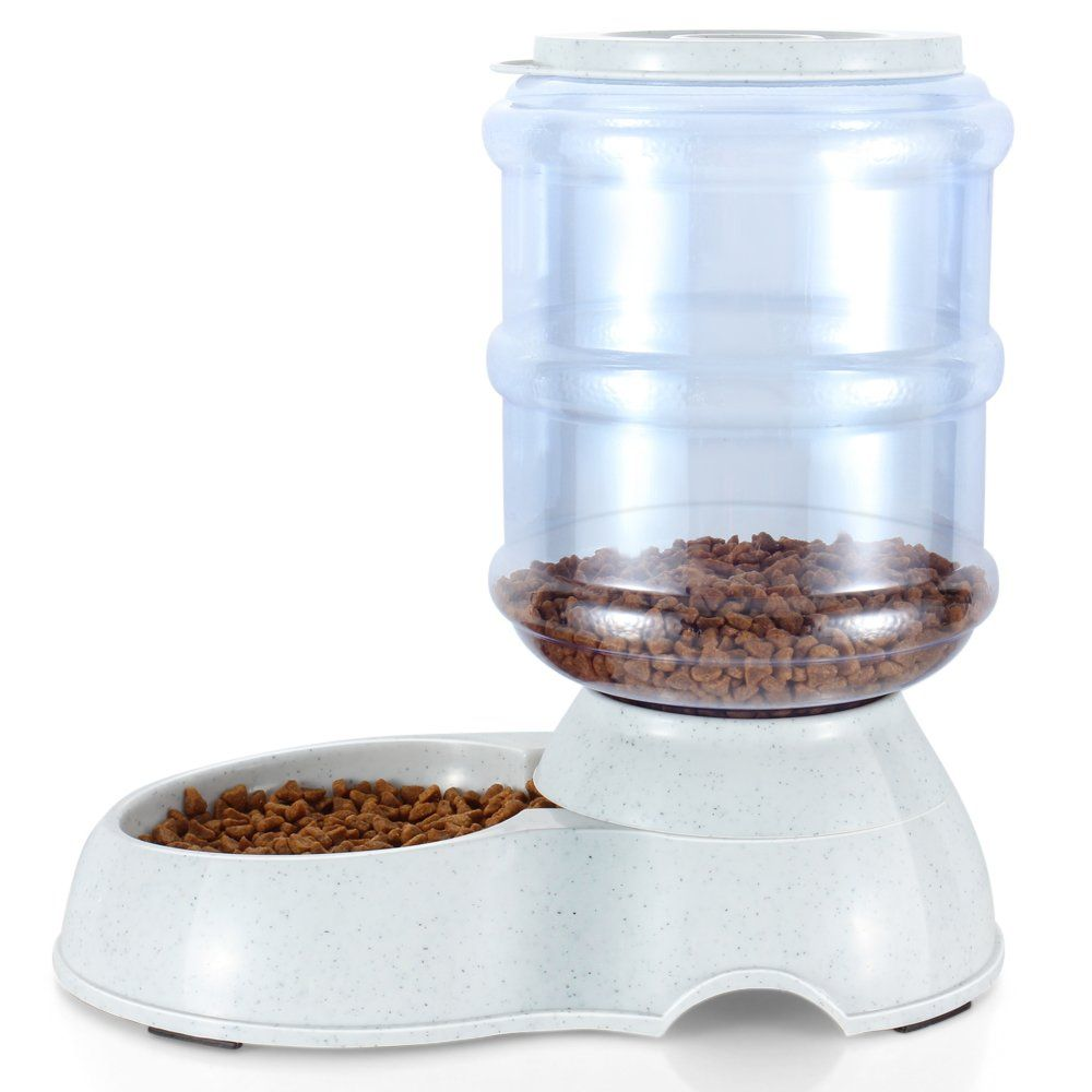 Flexzion pet feeder food dispenser station replenish pet