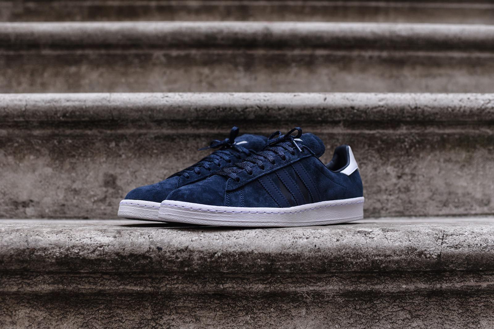60832bed2e79 adidas Originals x White Mountaineering Campus 80 - Navy   Blue   White