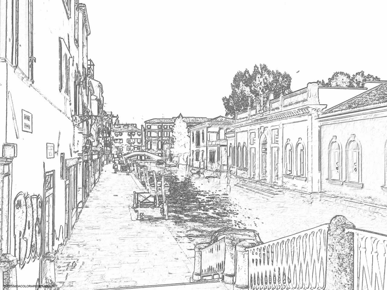 Verso San Basilio Riva Drawings Of Venice In 2020 Coloring Pages Venice Map Venice