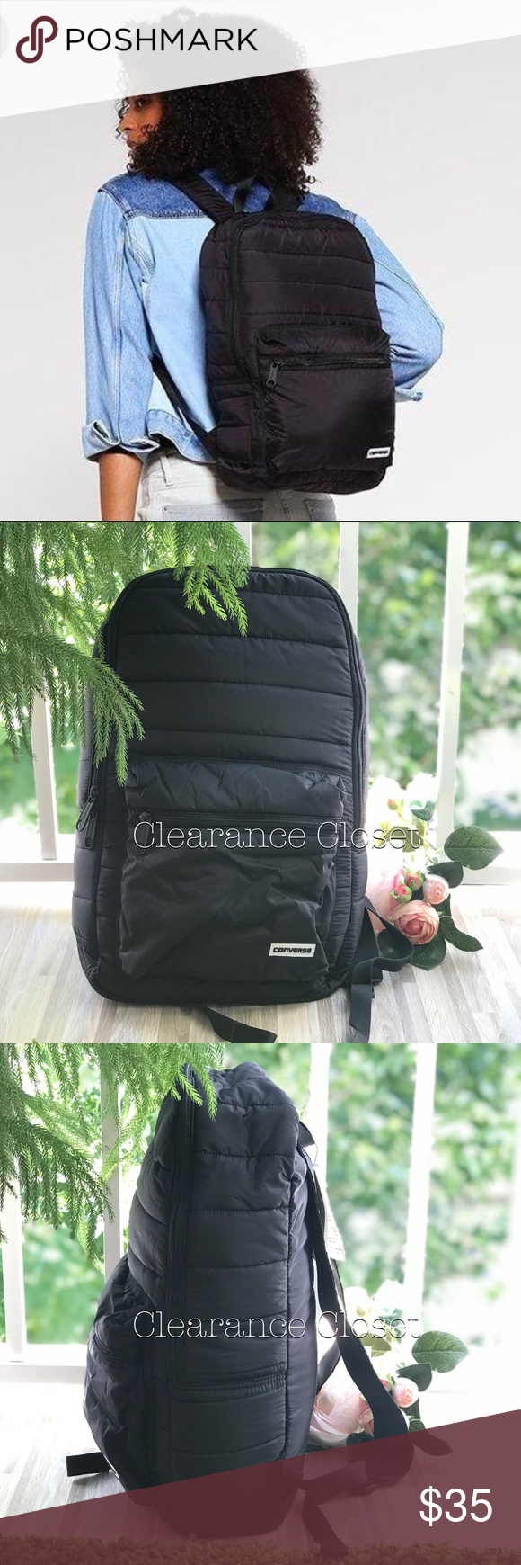 58228be4ada7 NWT Converse Packable Backpack Black Unisex Brand new with tag