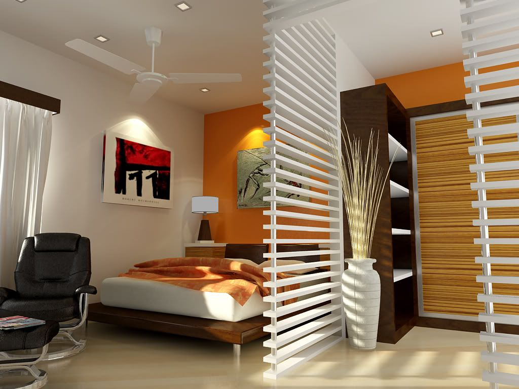 Simple interior design ideas for small bedroom small for P o p bedroom designs
