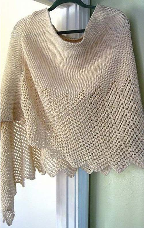 Lace Cotton Ponchette - Free Pattern (Beautiful Skills - Crochet ...