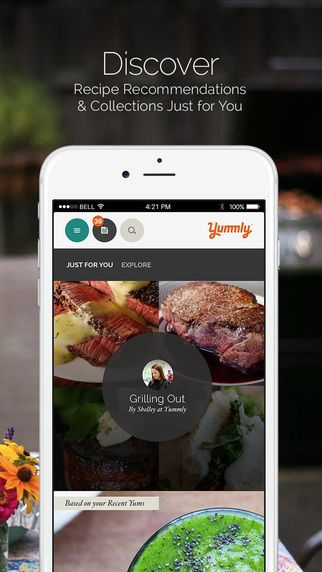 Iphone screenshot 1 appstore screenshots pinterest recipe box yummly recipes recipe box on the app store forumfinder Choice Image