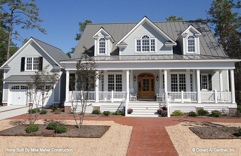 Home Plan The Santee# W-PIN-1011, Columns And Dormers